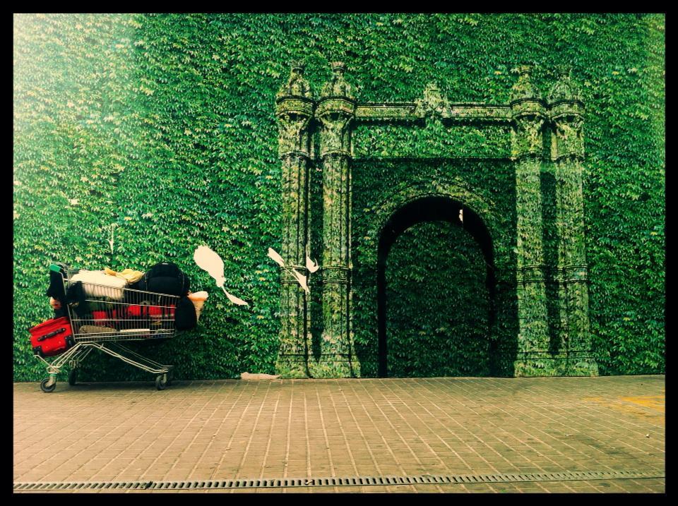 arc de triomf gravat a paret