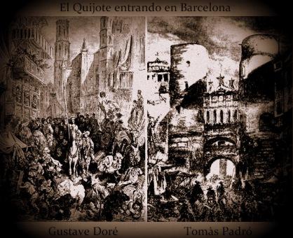 El Quijote entrando en Barcelona