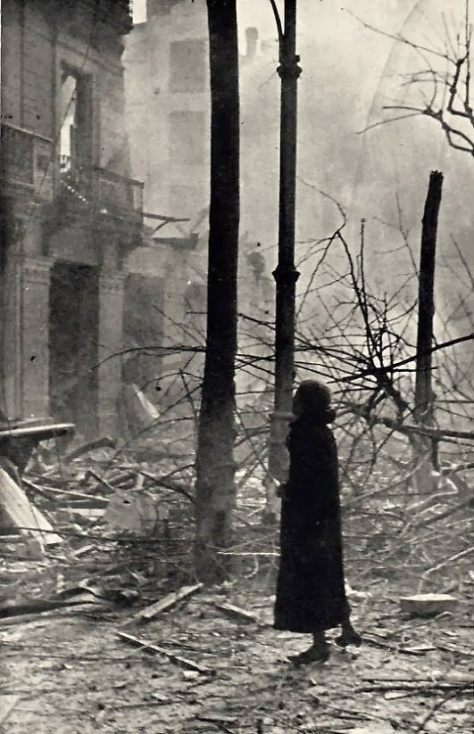 la destrucció a la Gran Via